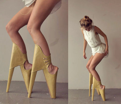 High Heels That Look Like Pointe Shoes