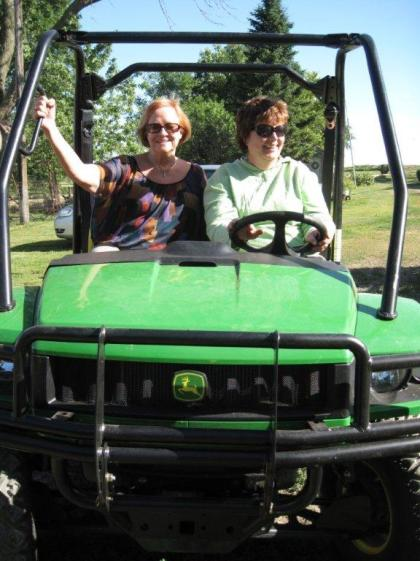 anneke and poolie on the farm