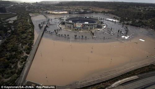 stadium floods