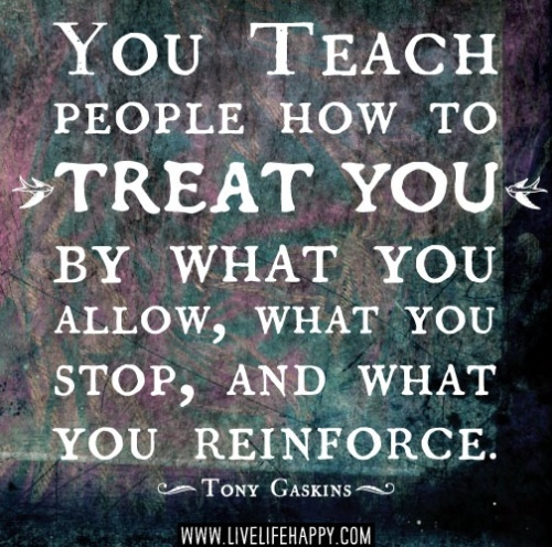 you teach people