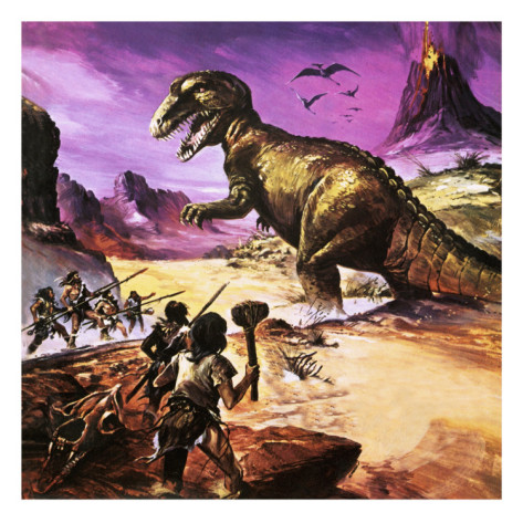 Dino-and-Caveman