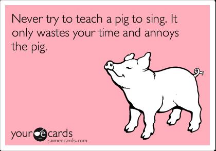 pig sing